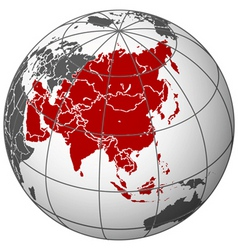 asia on earth vector image vector image