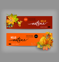Autumn advertising banner vector
