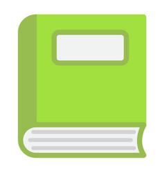 book flat icon education and school vector image vector image