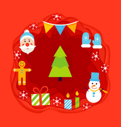 Christmas papercut concept vector