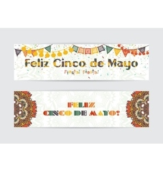 Cinco de Mayo fifth of May Day banners set vector image vector image
