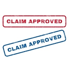 Claim approved rubber stamps vector