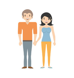 couple together lovely image vector image vector image