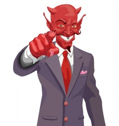 devil pointing vector image vector image