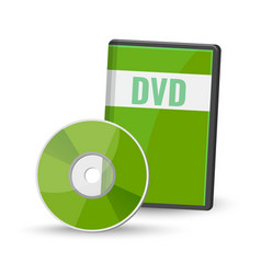 dvd digital video disc case for storage versatile vector image