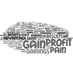Gainings word cloud concept vector
