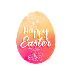 great watercolor easter egg with floral decoration vector image