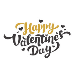 Happy valentines day lettering 14th of february vector