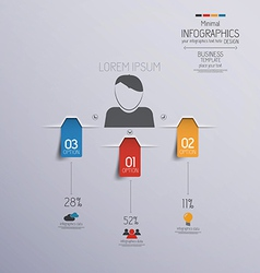 infographics 2 vector image vector image