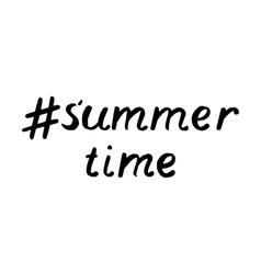 lettering summer time Hand Drawn Lettering vector image