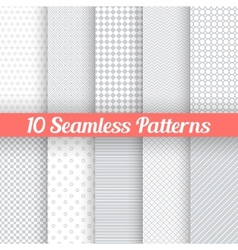 Light grey seamless patterns for universal vector image