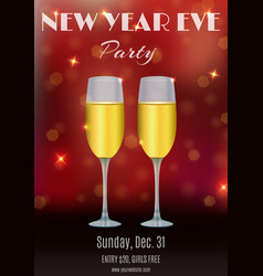 New year eve party flyer invitation ticket design vector
