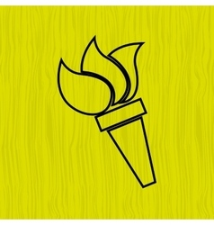 Olympic flame design vector