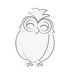 owl happy cute icon image vector image vector image