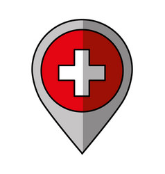 Pin location with switzerland flag vector