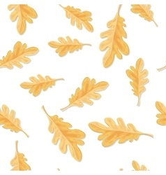 Seamless Pattern with Autumn Oak Leaves Isolated vector image