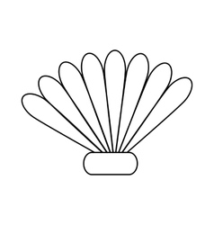 Seashell icon in outline style vector image vector image