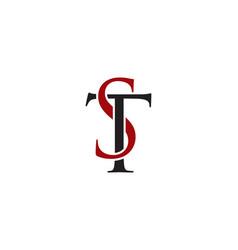 st letter logo vector image