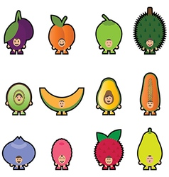 Stickers fruits 2 vector