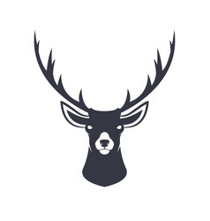 Stylized reindeer head vector