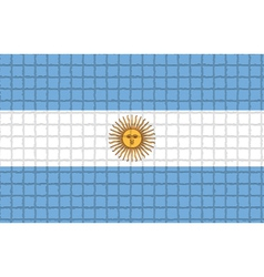 The mosaic flag of argentina vector
