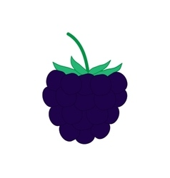 Sign flat blackberry 2608 vector