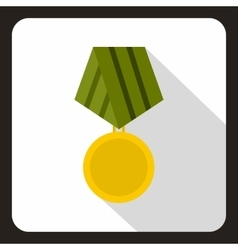Military medal icon flat style vector
