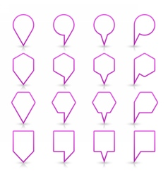 Violet map pin sign flat location icon web buton vector