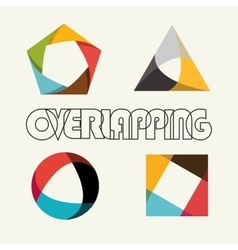 Abstract multicolored overlapping geometric vector