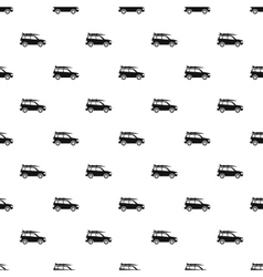 Car with surfboard pattern simple style vector