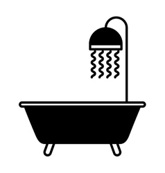 Bathtub faucet isolated icon vector