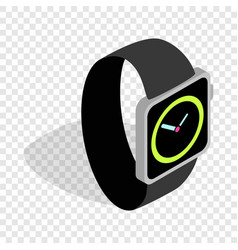 Wristwatch isometric icon vector