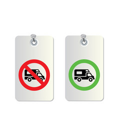 truck traffic sign vector image