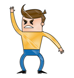 cartoon man business office worker angry vector image