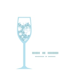 Shiny diamonds wine glass silhouette pattern frame vector