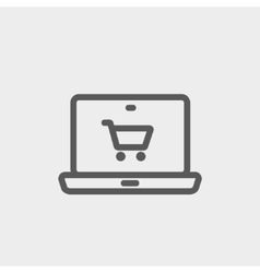 Online shopping thin line icon vector