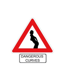 Dangerous curves vector