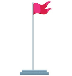 Flag and flag pole vector