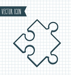 Puzzle icon design vector