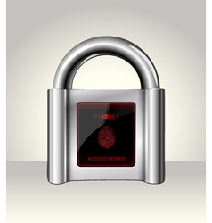 Closed padlock with touch Screen vector image