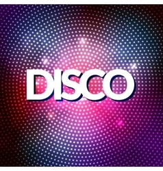 Disco party lights gold background hot dance vector