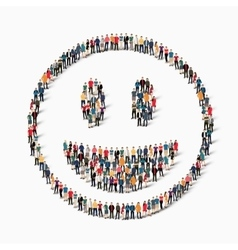 People emoticon smiley icon vector