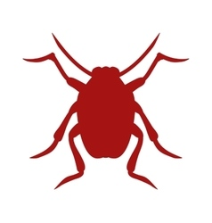 Bug icon beetle isolated on white background vector