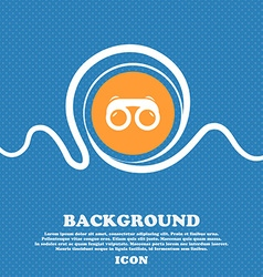 binoculars icon sign Blue and white abstract vector image