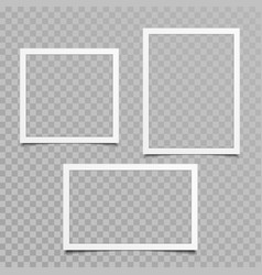 blank photo frame set vector image vector image