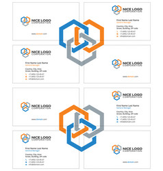 Business card construction industry light vector