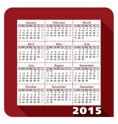 Calendar 2015 2a vector image
