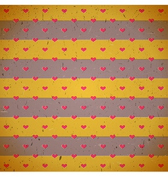 Cardboard print with hearts vector image