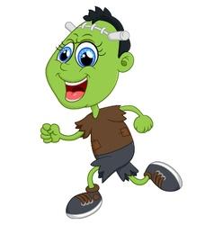 Cartoon frankenstein kid vector