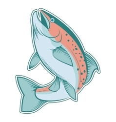 Colourful line trout vector